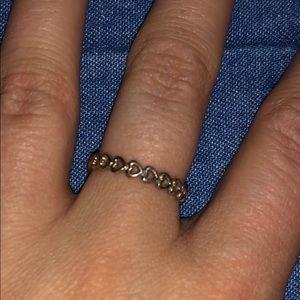 Pandora Rose Gold Heart Ring Size 7